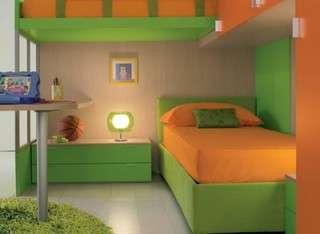 beliche em quarto verde