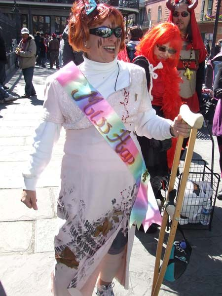 Miss Hap at Mardi Gras